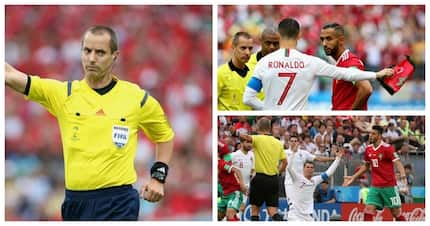 Morocco's Amrabat slams referee Mark Geiger who reportedly asked for Ronaldo's shirt
