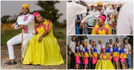 Soweto couple shares stunning pics of their traditional wedding