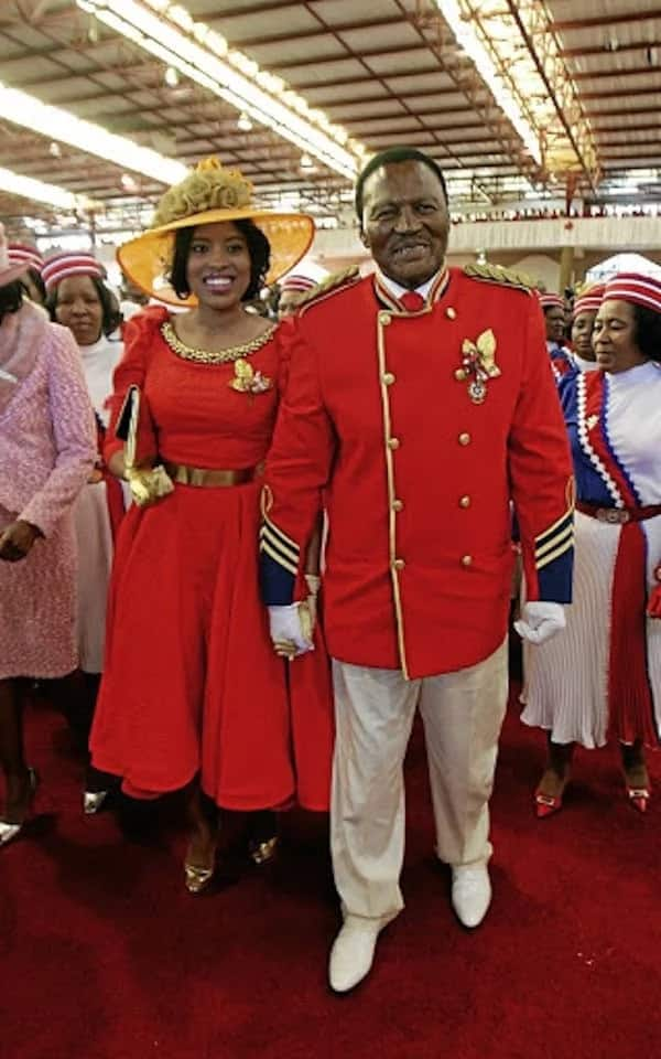 The late Glayton Modise, former leader of the International Pentecost Holiness Church (right), and his wife. Photo: Veli Nhlapo