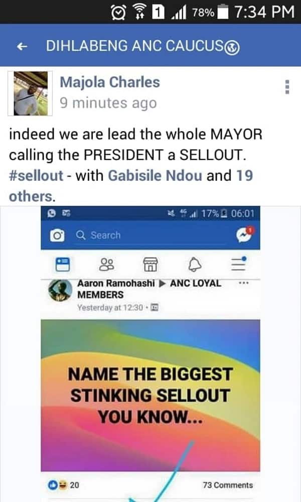 ANC mayor faces disciplinary proceedings after calling Ramaphosa a sell-out on social media