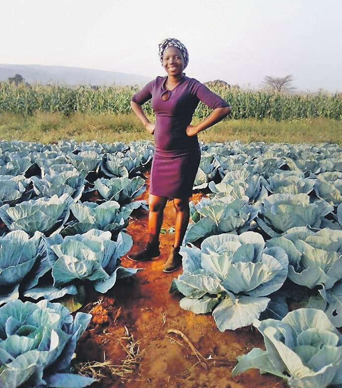 Rabelani Mamangwa pictured at her farm. Source: City Press