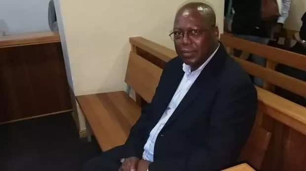 ANC KZN leader, Mike Mabuyakhulu in court today after handing himself in.