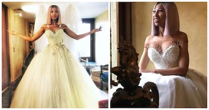 Enhle Mbali gets to relive her wedding day as a beautiful bride