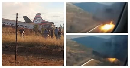 Video filmed inside the plane as it crashed in Pretoria is going viral