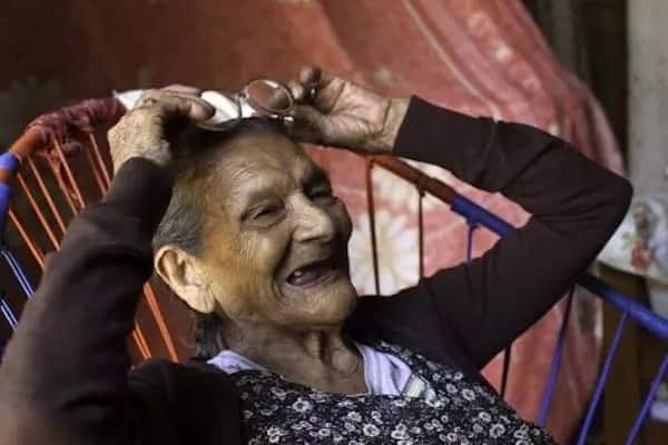 Palacios, 96, has joined high school. Source: AFP