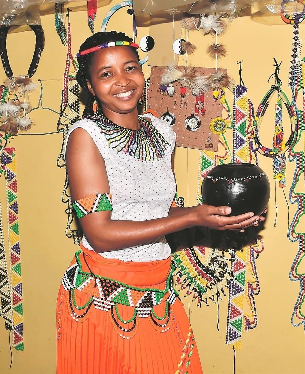 Ncengekile Mhlongo keeps Zulu tradition alive through her amazing beadwork. Source: Daily Sun