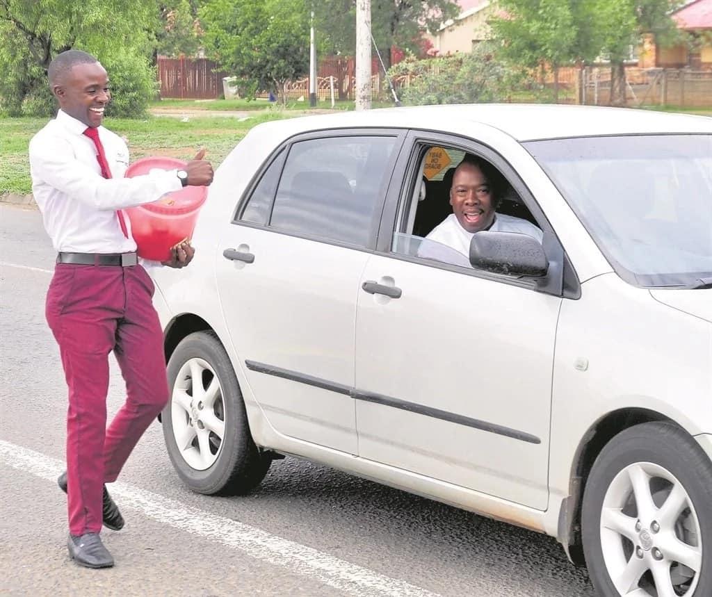 Vuyani Mazibuko has won many customers with his smart outfits. Source: Daily Sun
