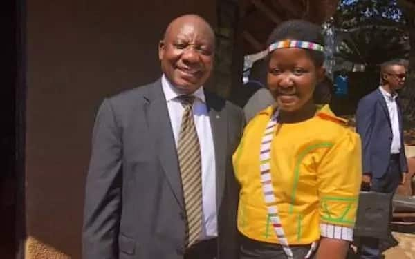 Queen-elect Masalanabo Modjadji pictured with President Cyril Ramaphosa earlier this year. Source: EWN
