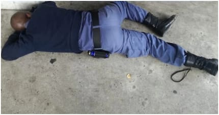 Photos of allegedly drunk Durban cop who passed out spark outrage