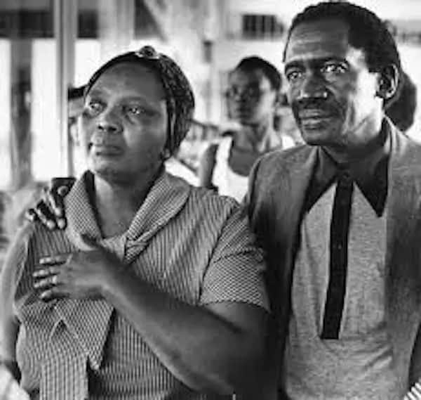 Sobukwe pictured with his wife, Veronica. Source: SA History Online