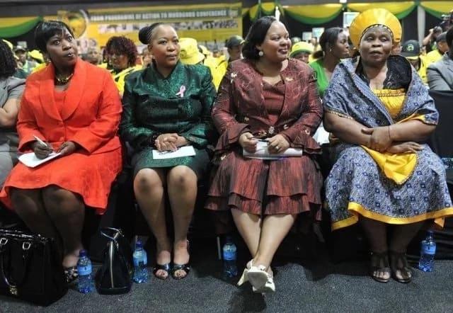 Former president Jacob Zuma's wives (L-R) Bongekile MaNgema Zuma, Thobeka Madiba-Zuma, Nompumelelo Ntuli Zuma, and Sizakele MaKhumalo Zuma. Source: news365.co.za