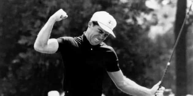 Legendary SA golfer Gary Player reacts after winning the US Open in 1965. Source: Garyplayer.com