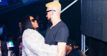 Excited tweeps react after seeing a photo of DJ Zinhle and AKA getting cosy