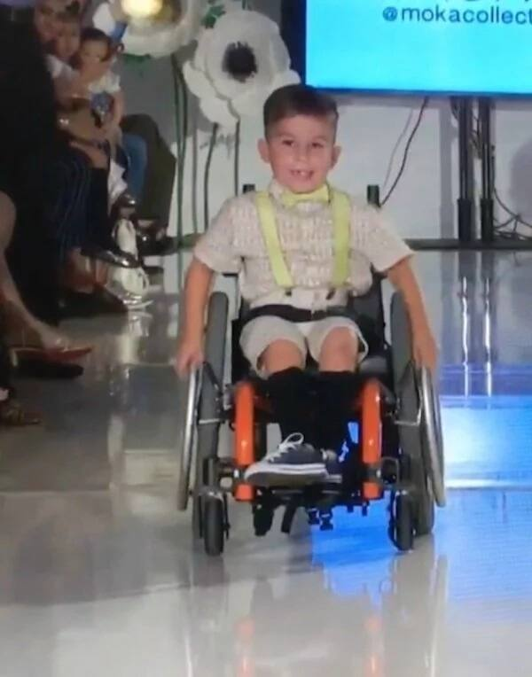 Colton has already wheeled down the New York Fashion Week catwalk twice. Source: Caters