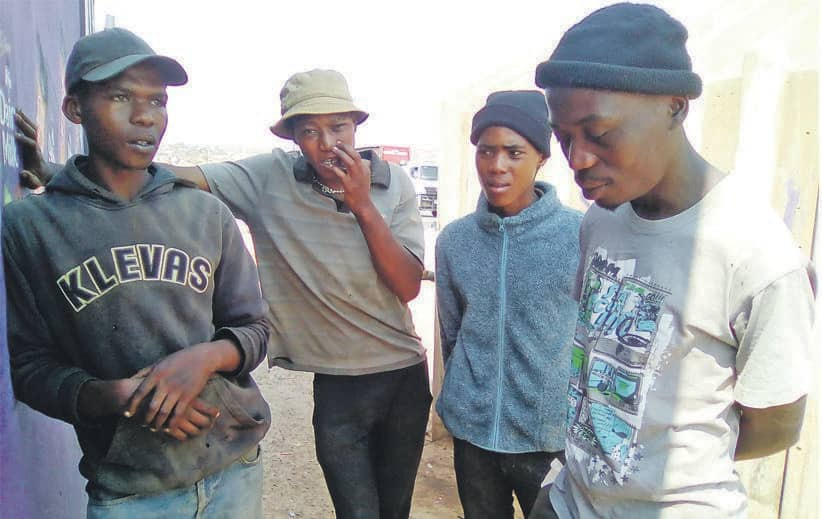 Some of the nyaope addicts who expressed opposition to dagga's legalisation. Source: Daily Sun/Bongani Mthimunye