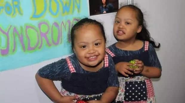 Fowzia and Fatima Fillies are a one-in-a-million set of identical twins with Down Syndrome. Source: Daily Voice