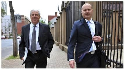 Father and son living it up in Australia after stealing millions from the RAF