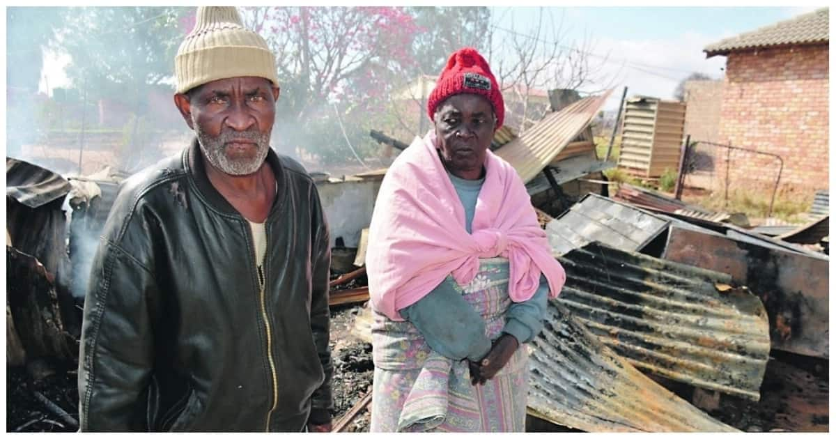 Brave local hero rescues an elderly couple from blazing fire