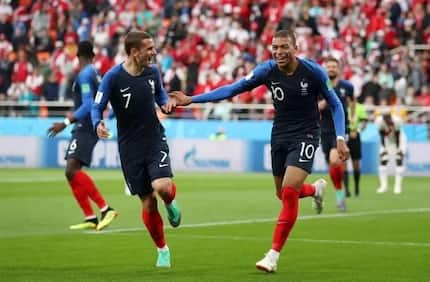 Mabppe's first half strike give France a 1-0 win over Peru