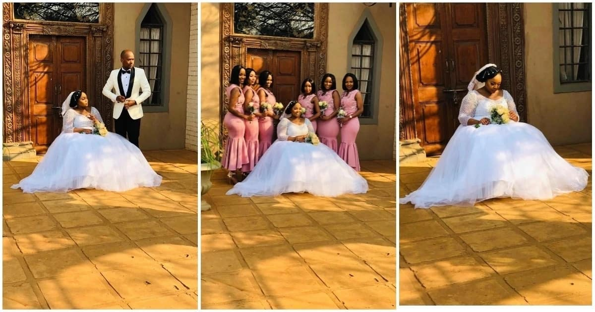 Bride in wheelchair looks absolutely radiant on her wedding day