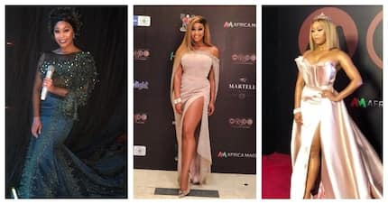 Minnie Dlamini turned heads at the Africa Magic Viewers' Choice Awards