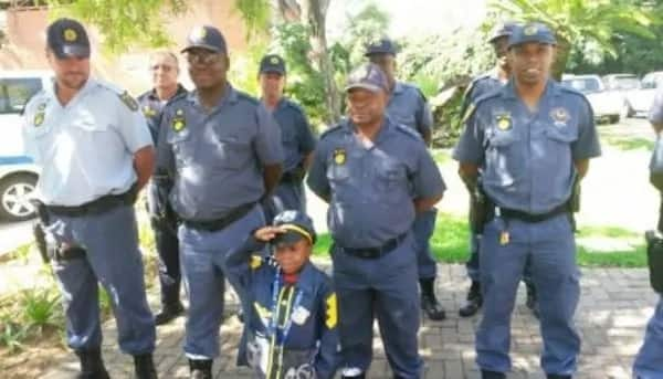 Young Dineo got a chance to be an officer for a day. Source: rekordeast.co.za