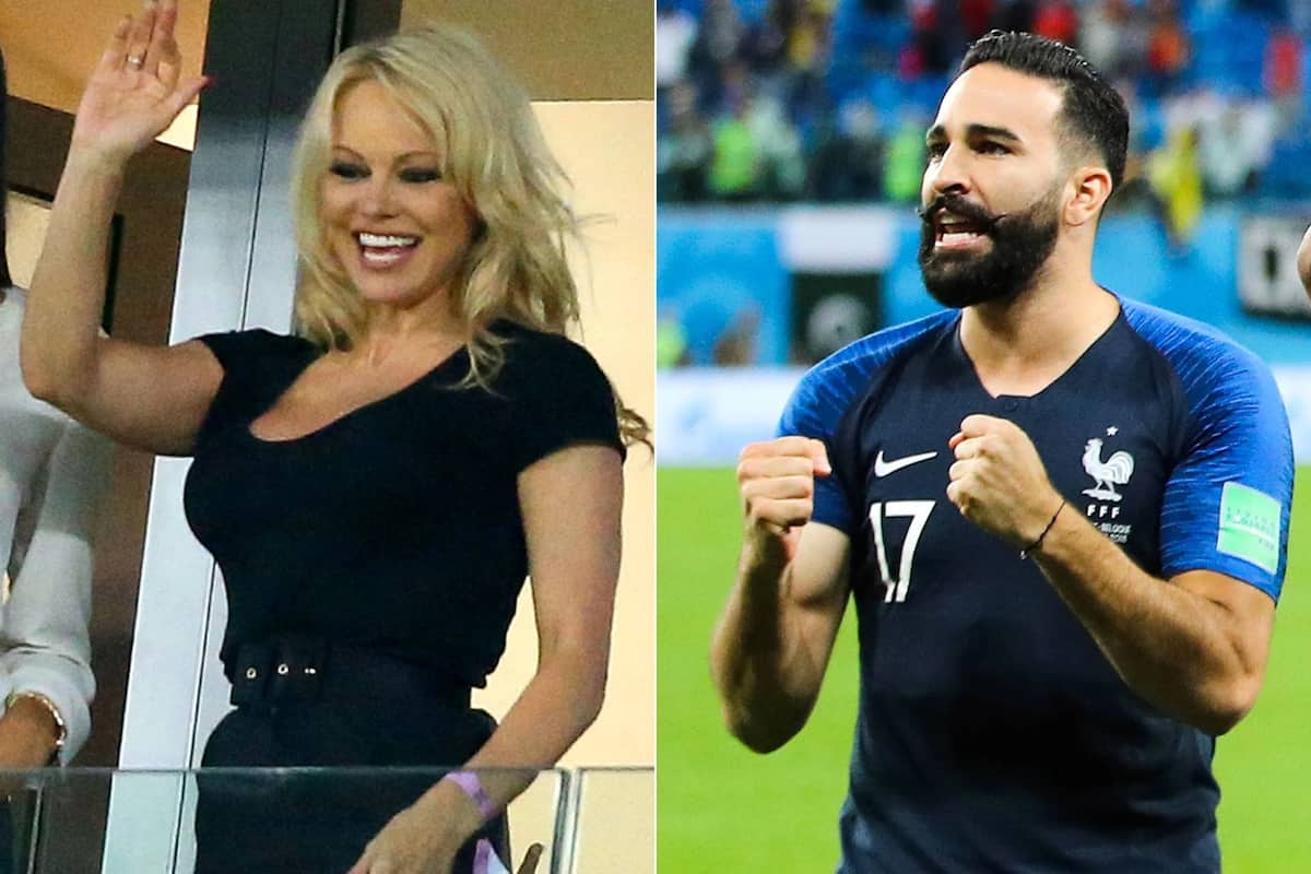 Babe watch at World Cup: Pamela Anderson cheers on her bae, Adil Rami