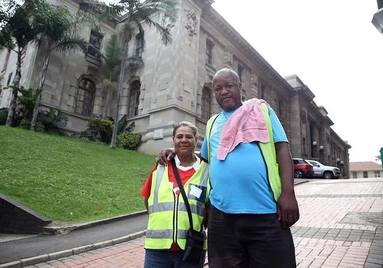 Marlen and Cindy Jordan have worked at the Durban High Court for 16 years as car guards. Source: Times Live