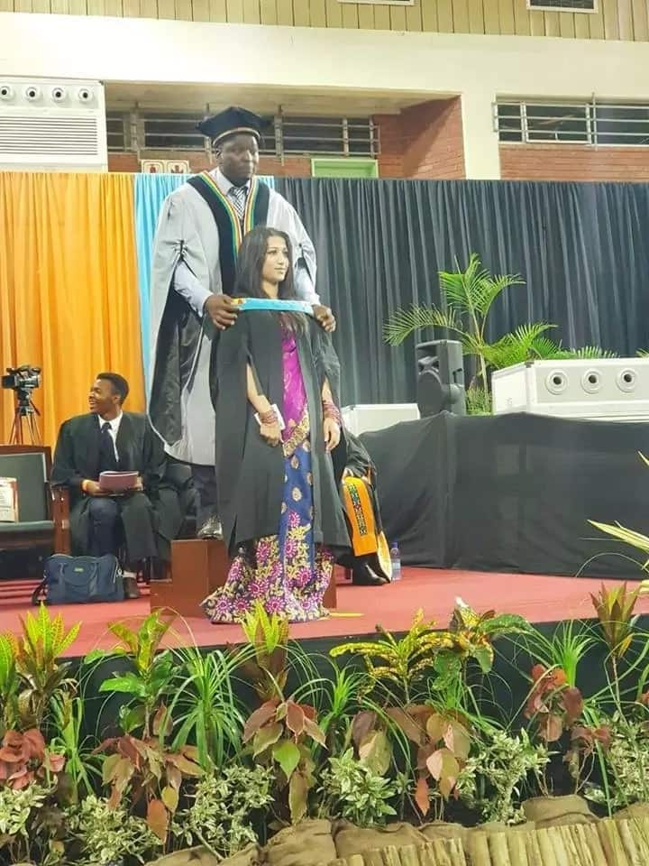 Student honoured with highest distinction at her Honours graduation