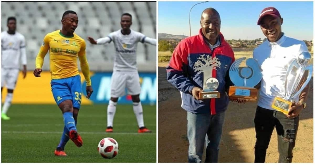 Mamelodi Sundowns star Lebohang Maboe follows in his dad's footsteps