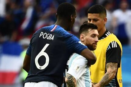 Pogba's gesture to Messi after Argentina's devastating loss to France leaves football fans awed