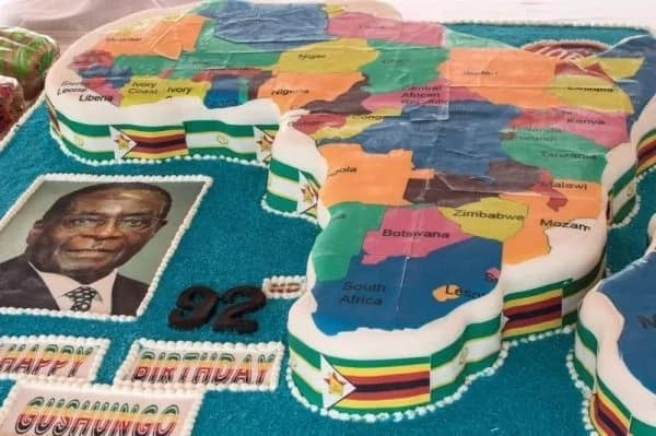 "The ""Africake"" Mugabe received in 2013. Source: thesouthafrican.com"