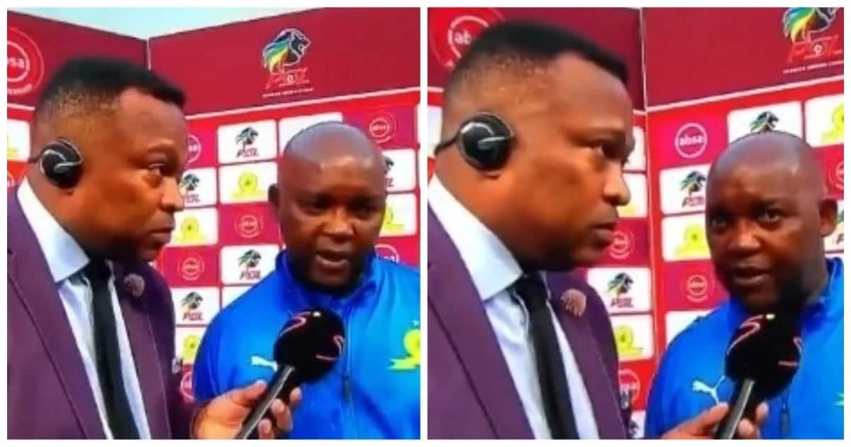 South Africans react to awkward Pitso Mosimane and Robert Marawa interview