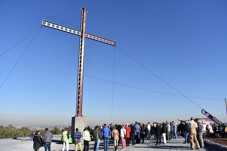 Pretoria erects 18m tall cross as a beacon of hope and love