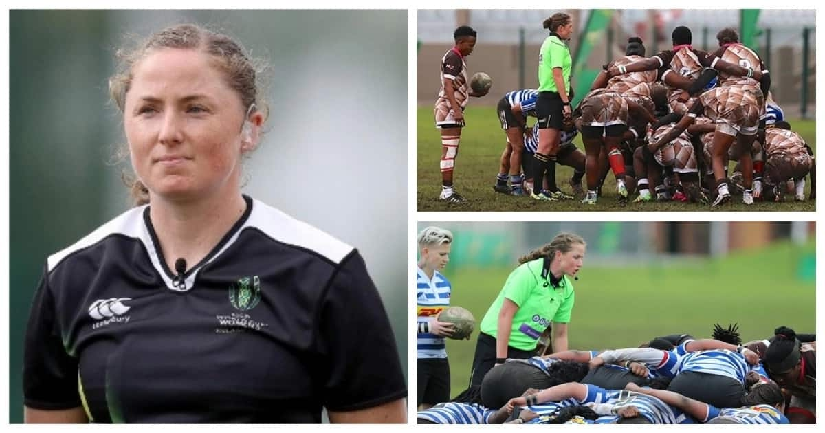 Ground-breaking female rugby referee nominated for prestigious woman of the year award