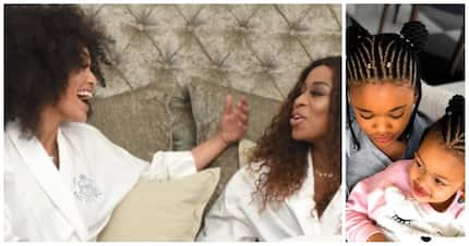 Cutest BFF's ever: Pearl Thusi and DJ Zinhle's daughters spotted together