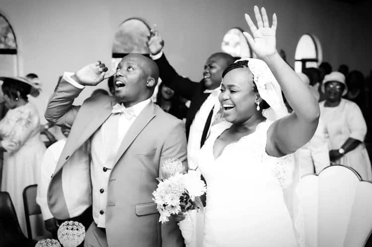 """Nomagugu is thankful for having met and married """"the most amazing man in the world."""" Source: Sowetan Live"""