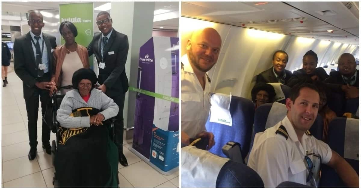 100-year-old Eastern Cape gogo's dream of flying finally comes true
