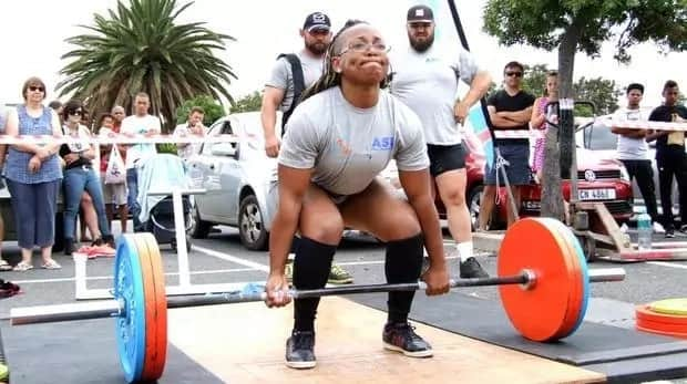Faith lifted 200kg. Source: Daily Voice