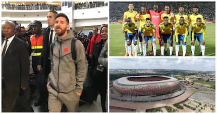 Barcelona FC arrive in Johannesburg ahead of clash with Mamelodi Sundowns