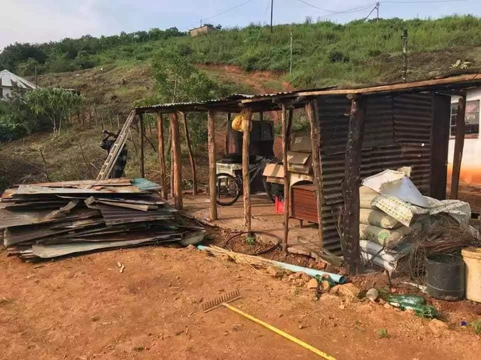 The home that was pulled down. Source: Daily News
