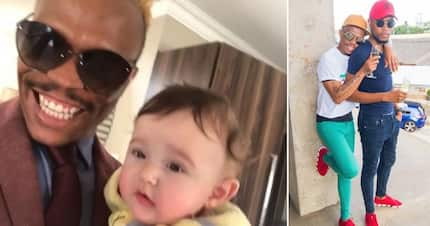 Somizi 'adopts' a baby for the day, then tells Mohale they should find a 'white surrogate'