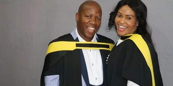 Johannes and Elizabeth Mogotsi graduated together. Source: Times Live