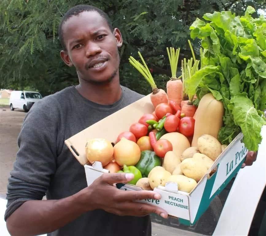 "Tebogo is the ""Mobile Veggies Guy."" Source: reviewonline.co.za"