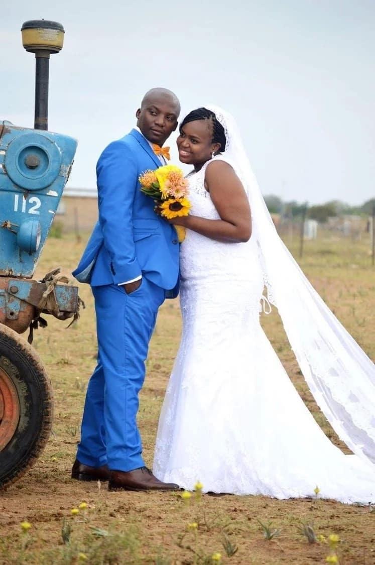 Nomagugu and her husband Zukile on their wedding day. Source: Sowetan Live