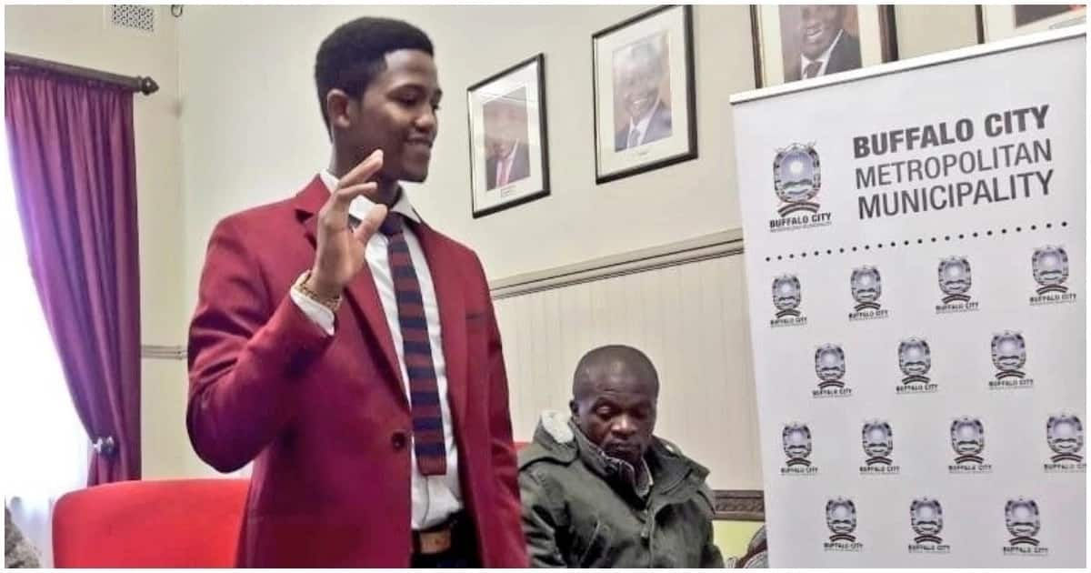 Buffalo City swears in one of its youngest councillors, Kwanele Zonke