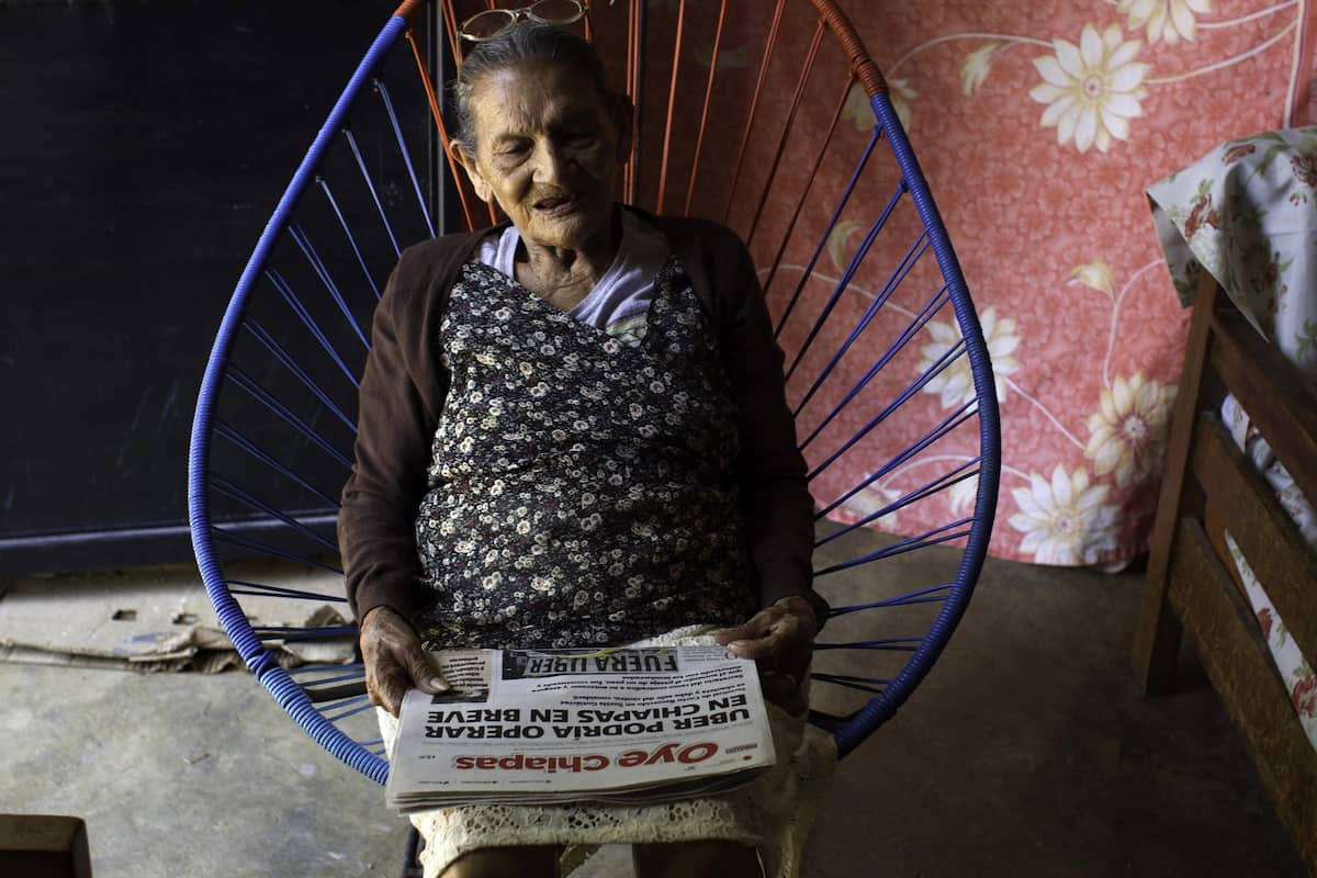 Palacios says she hopes to complete high school before she's 100. Source: AFP