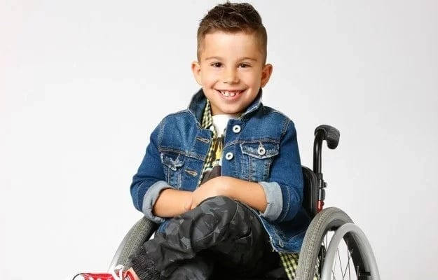 Colton has built a successful career as a wheelchair model despite his disability. Source: Caters