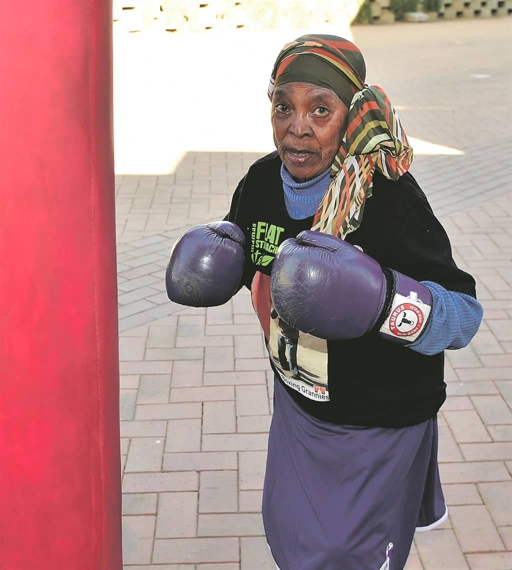 Age is just a number: Gogo, 82, shows off her boxing skills