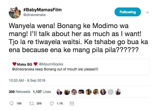Dineo Ranaka talks smack about Bonang and gets creamed by fans